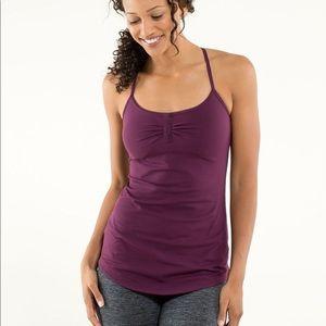 Lululemon Atma strappy plum purple Yoga tank top 4